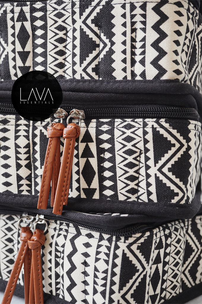 Boho Carrying Case for Essential Oils 30+ bottles 5ml-15ml - Lava Essential Oils
