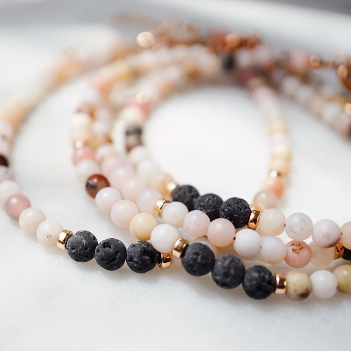 LUX Dainty Lava Bracelet ▾ Rose Gold & Pink Opal, LMTD Edition - Lava Essential Oils