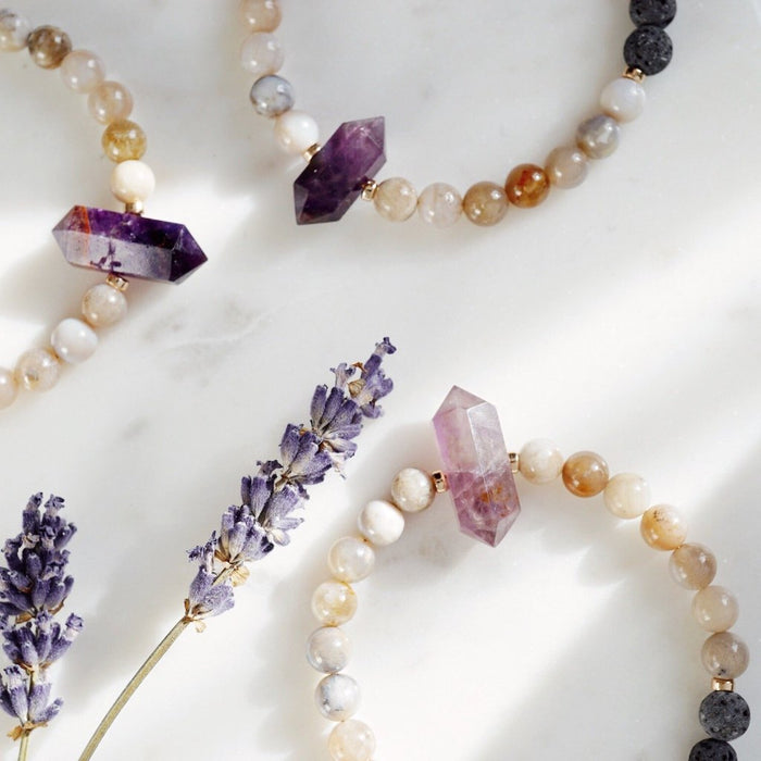 LUX Dainty Lava Bracelet ▾ Amethyst Point (045) - Lava Essential Oils