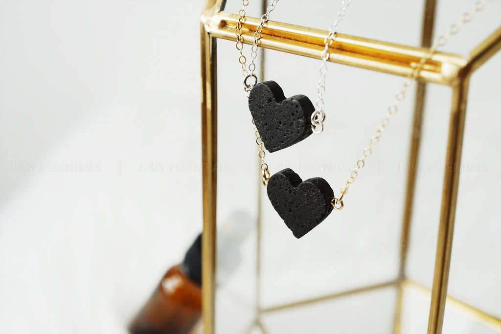 heart essential oil necklaces