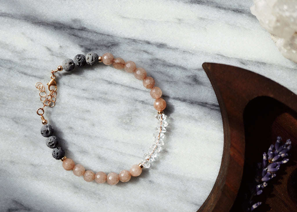 LUX Dainty Lava Aromatherapy Bracelet ▾ one of a kind - Lava Essential Oils