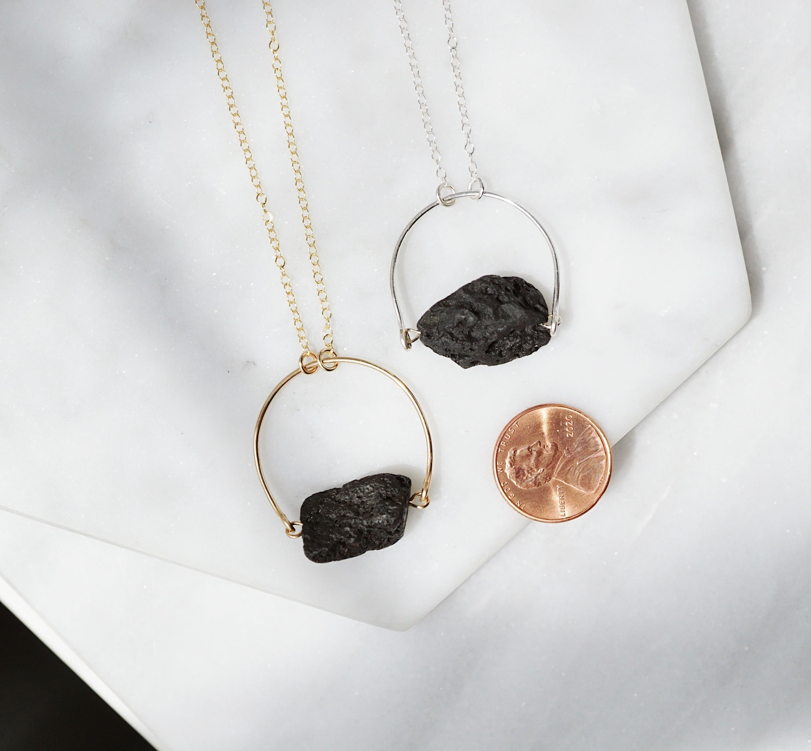 HELIX Lava Nugget Essential Oil Necklace