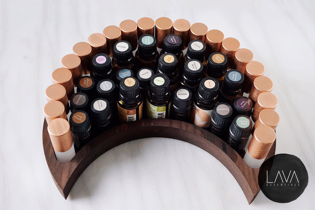 Wood Crescent Moon Tray - Lava Essential Oils