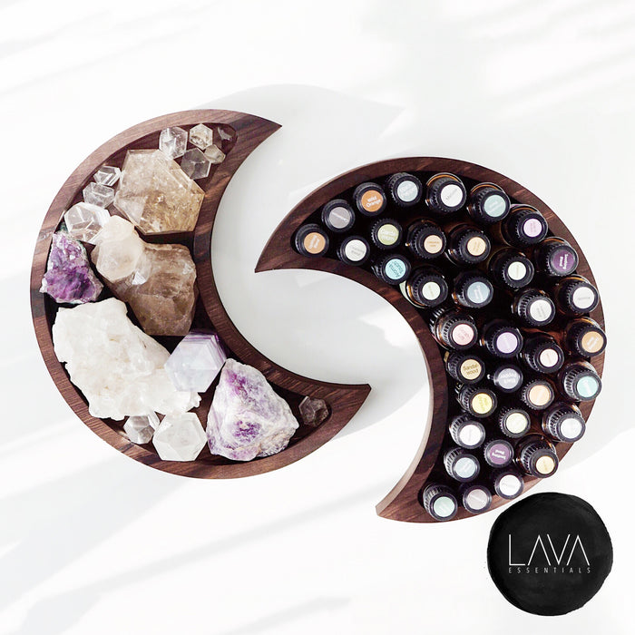Large Pine Wood Crescent Moon Tray - Lava Essential Oils