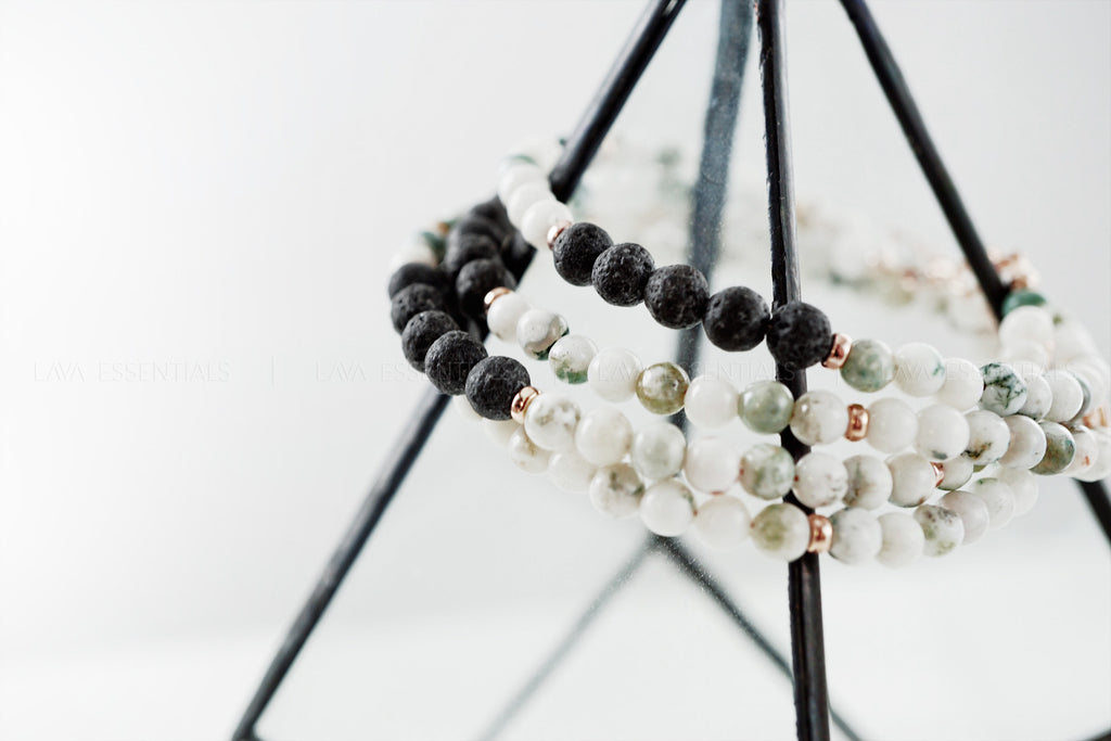 gemstone lava essential oil diffuser bracelet