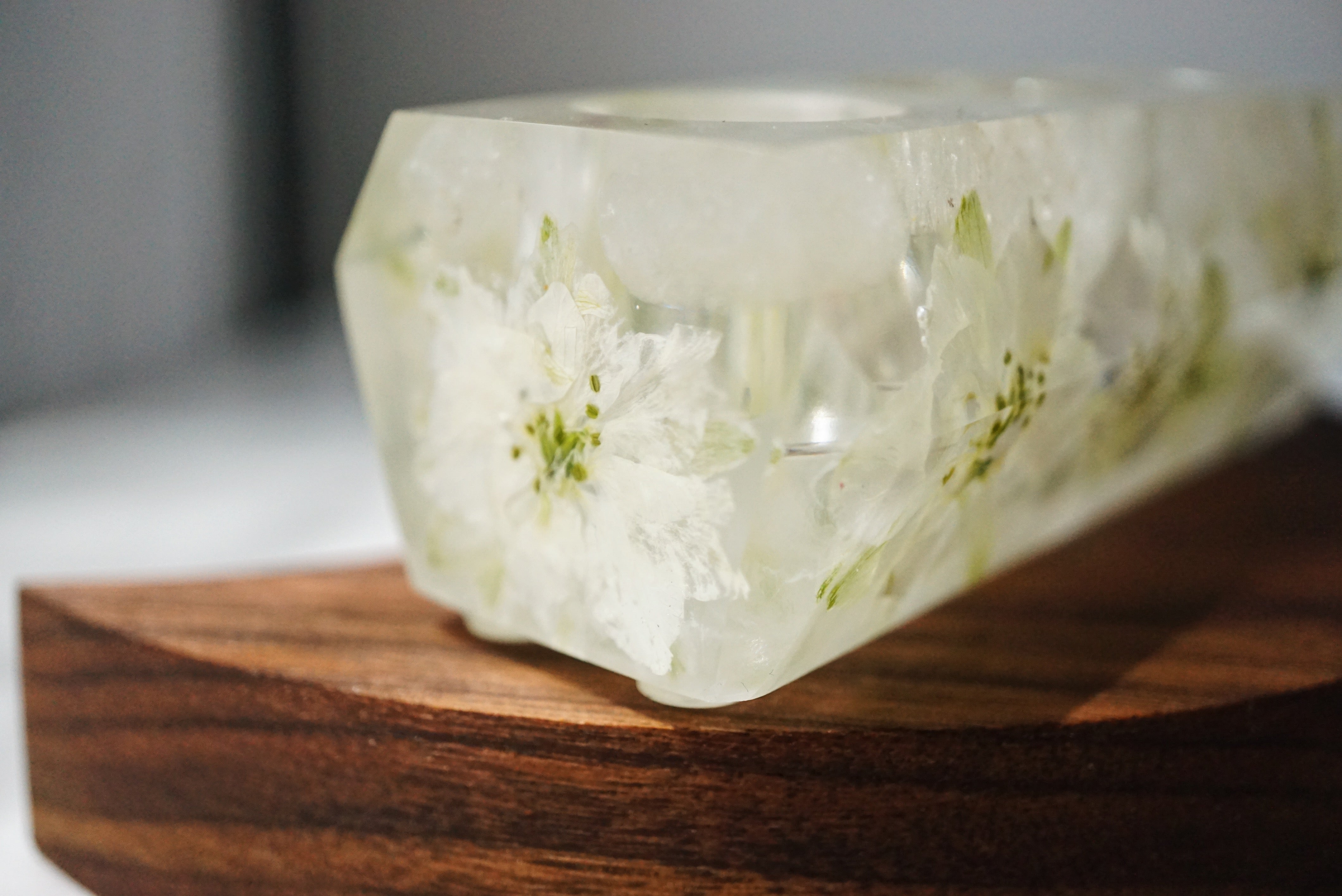 One-of-a-kind Floral + Quartz Crystal Point Essential Oil Holders  (033)