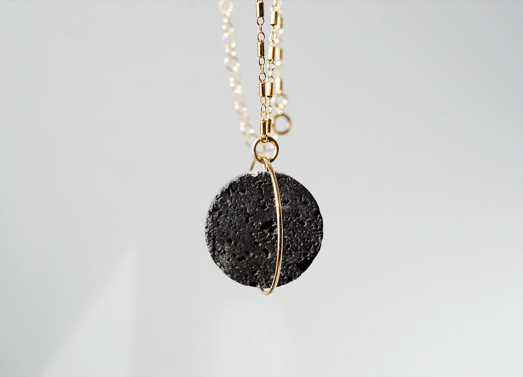 Solstice Lava Essential Oil Necklace - LMTD Edition - Lava Essential Oils