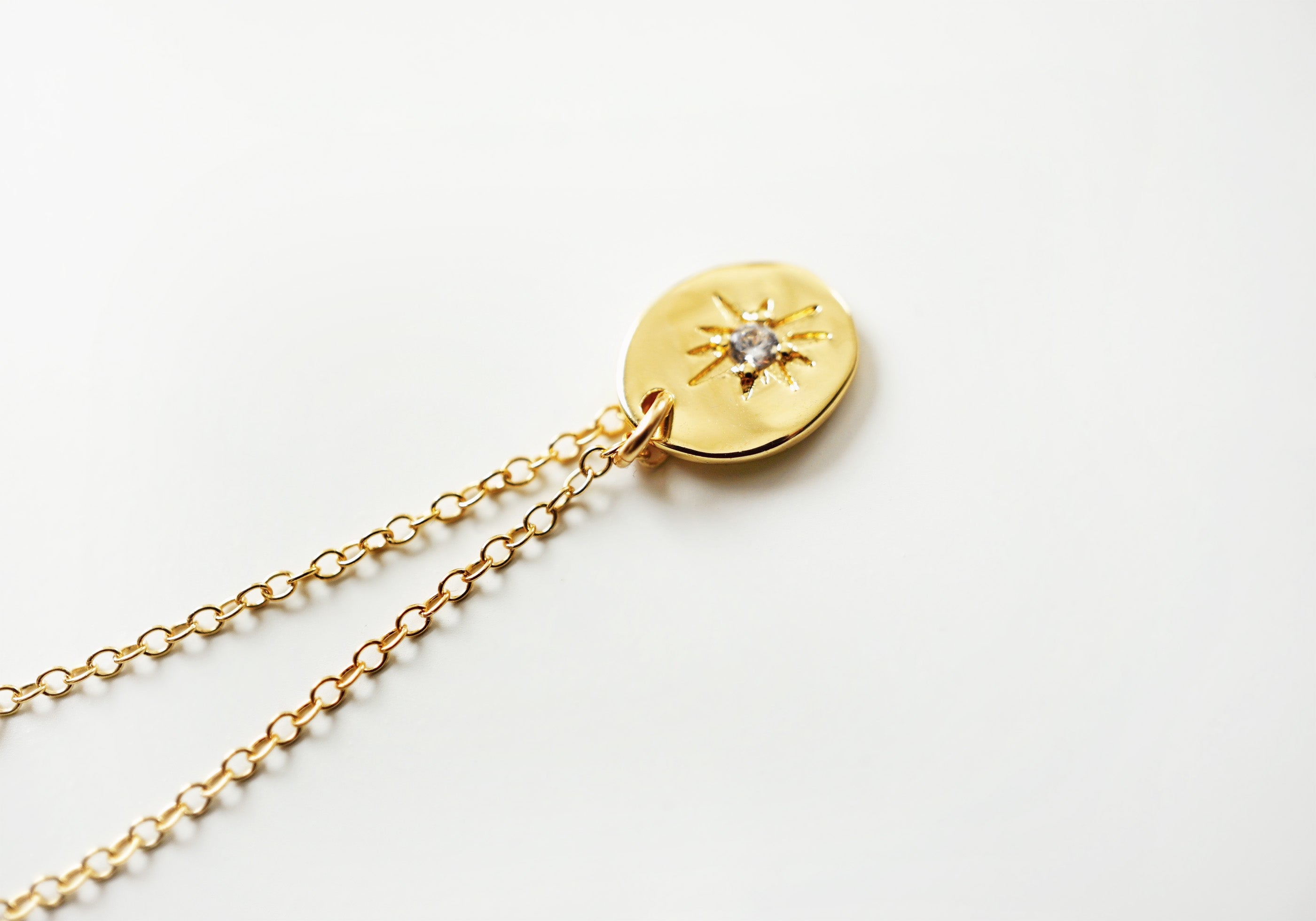 NORTH ✶ Celestial Collection ✶ Dainty Starburst Necklace + Lava Charm