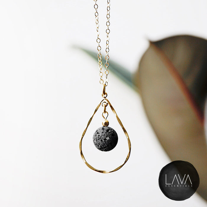 Eternal Drop Lava Essential Oil Necklace - Lava Essential Oils