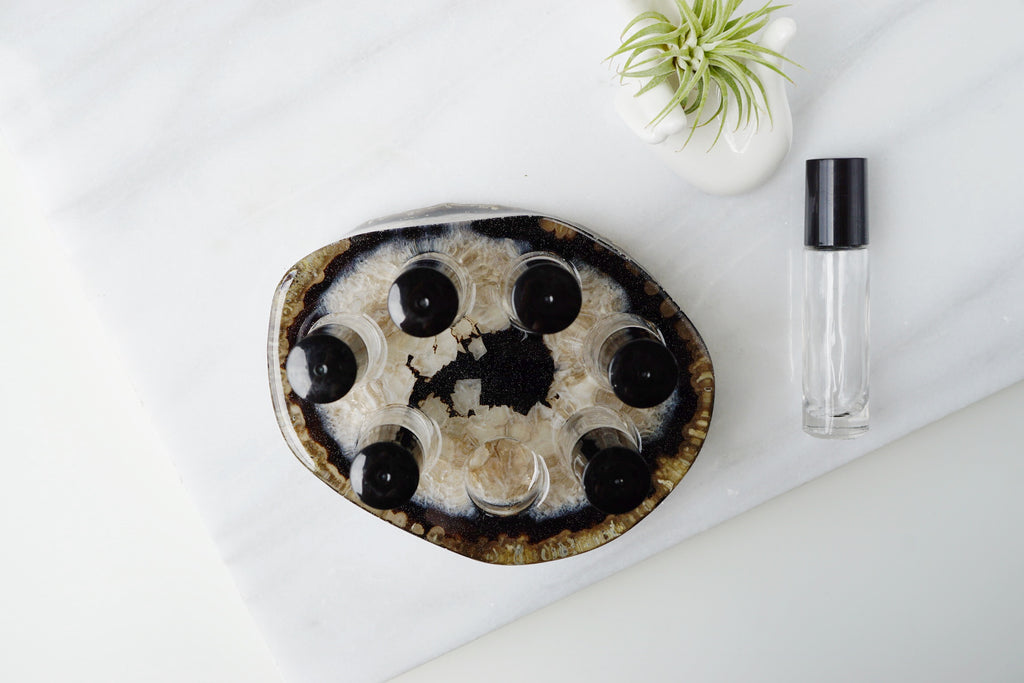 Agate Essential Oil Roller Bottle Holder - Lava Essential Oils