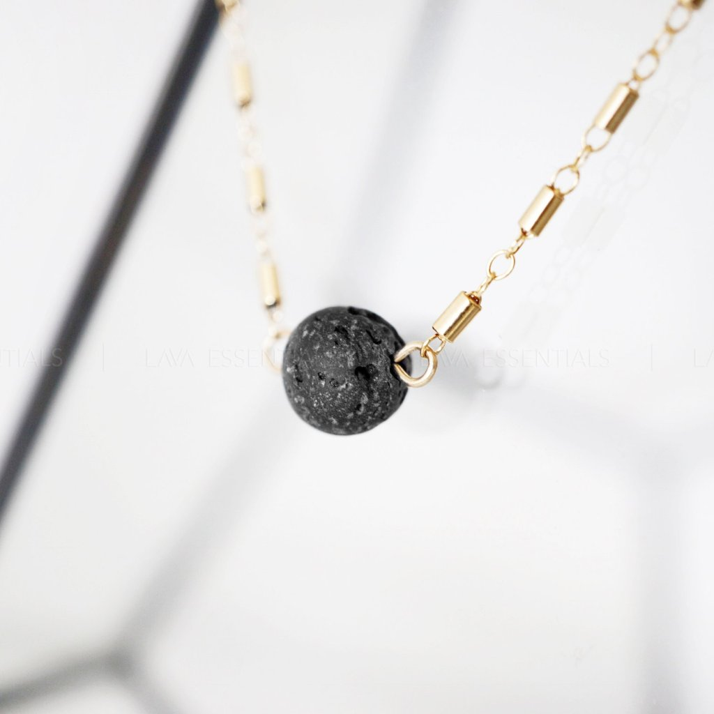 The Kaleidoscope Minimalist Essential Oil Diffuser Lava Necklace - MULTIPLE CHAIN OPTIONS - Lava Essential Oils