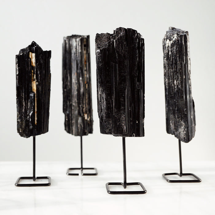 EMF Collection ☼ Black Tourmaline Stone on Stand - Lava Essential Oils