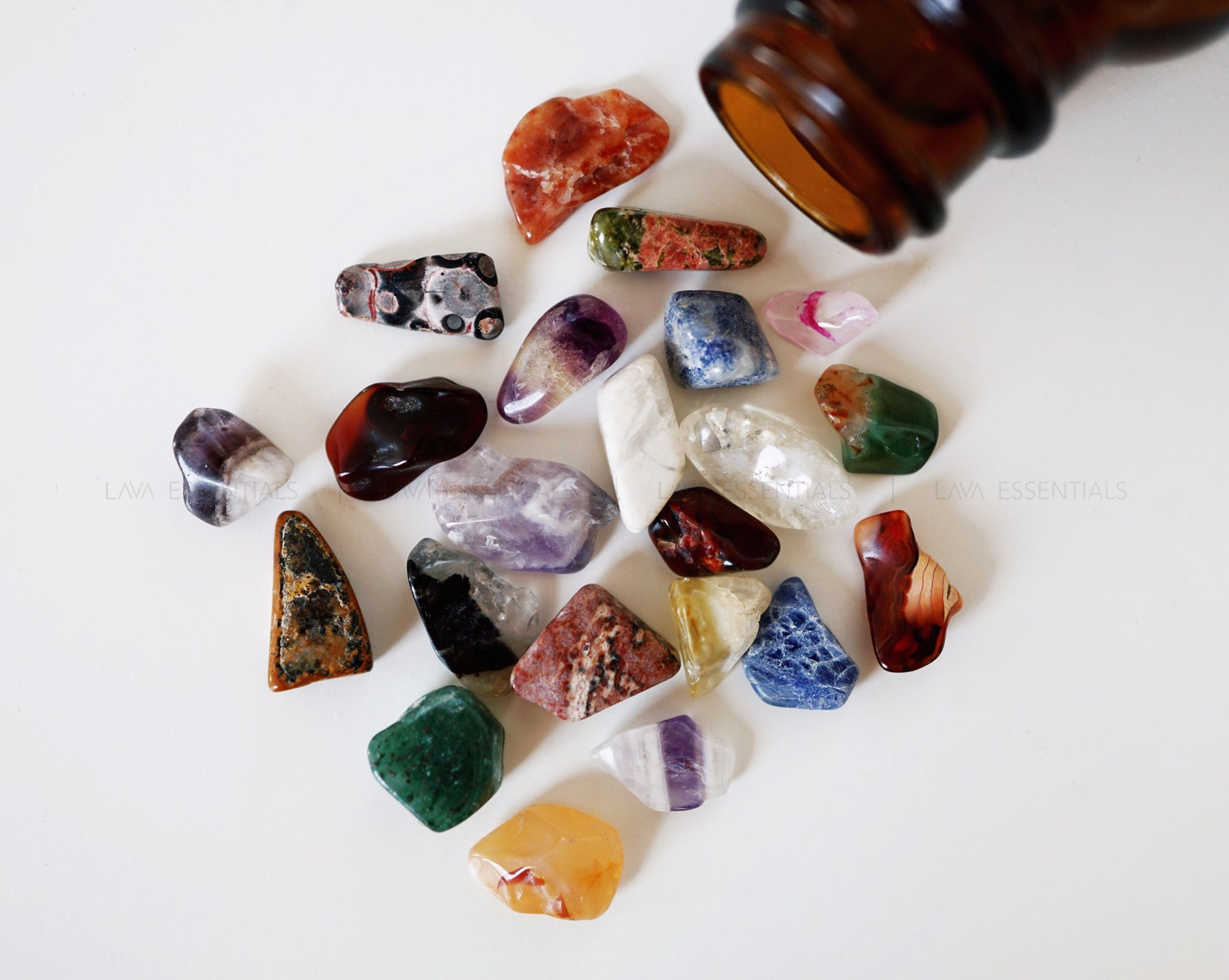 Mixed Gemstones - Lava Essential Oils