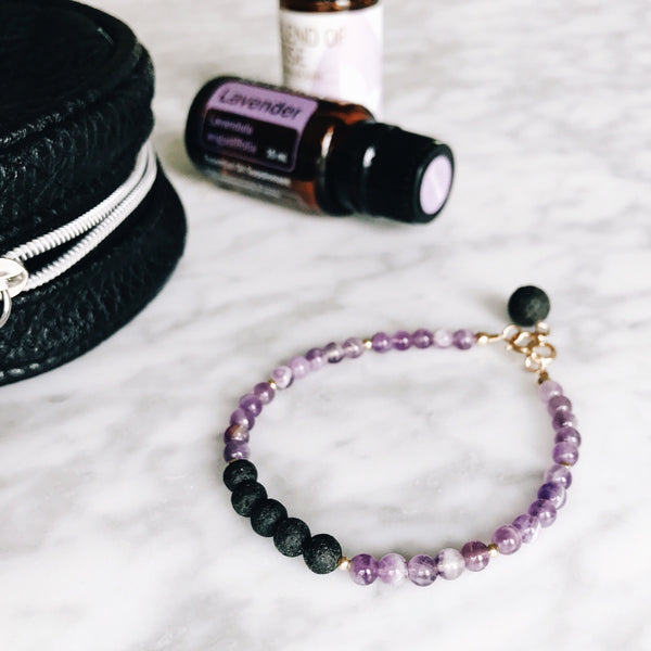 essential oil jewelry diffuser lava amethyst bracelet oils
