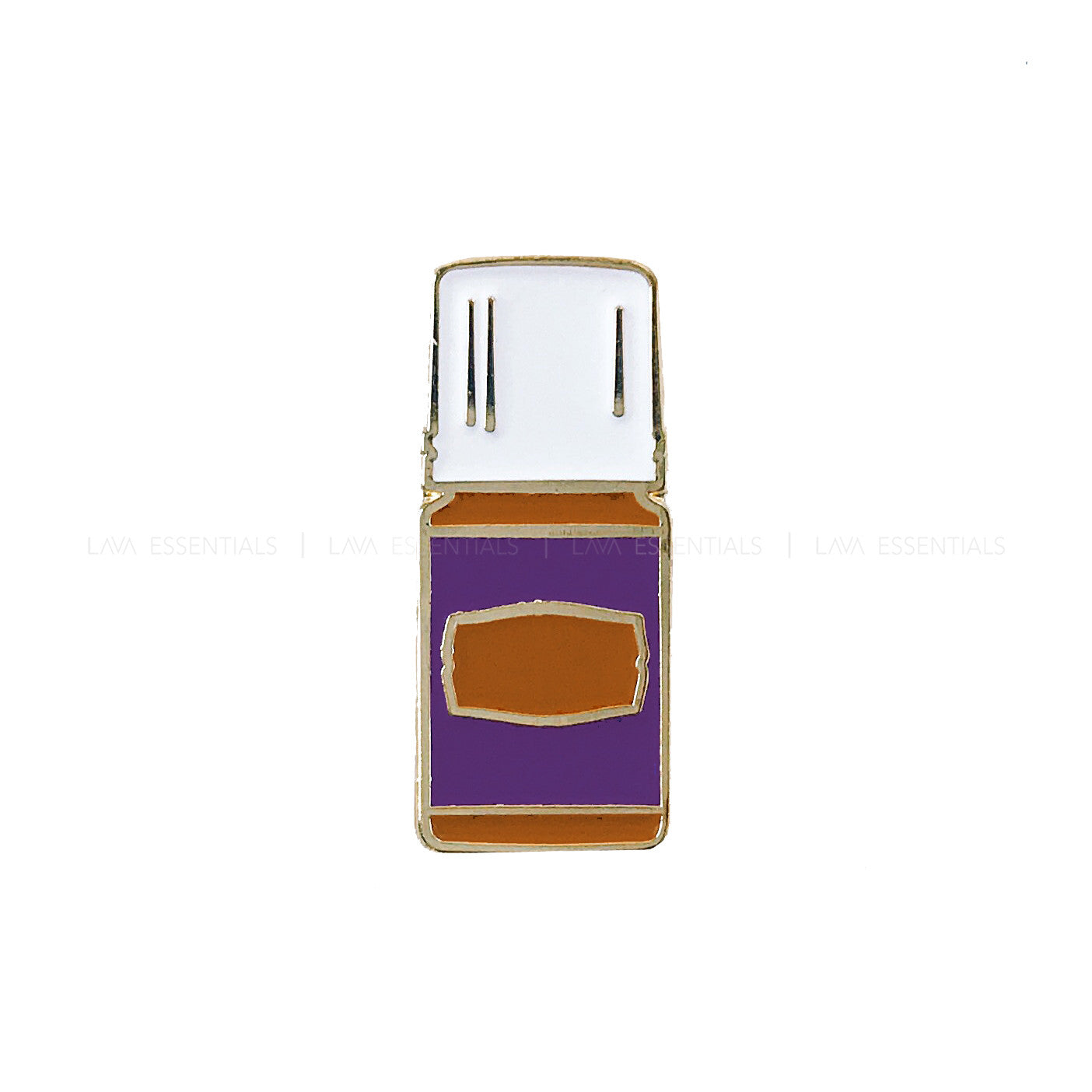 Purple Essential Oil Bottle Enamel Lapel Pin - Lava Essential Oils