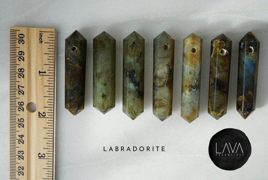 Labradorite Infinity Crystal Aroma Necklace [G]+[S] - Lava Essential Oils