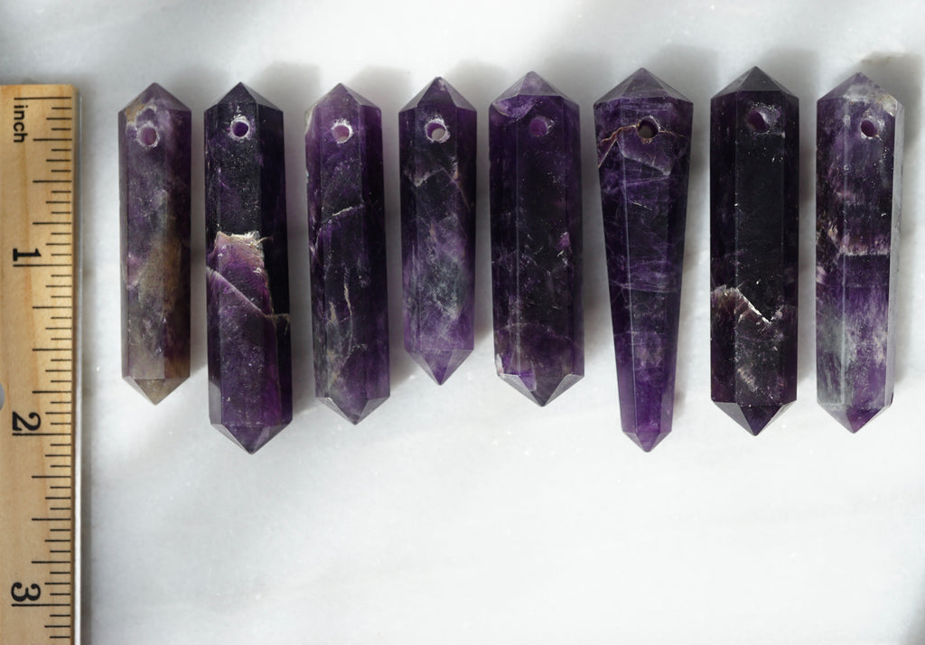 Amethyst Infinity Crystal Aroma Necklace - Lava Essential Oils