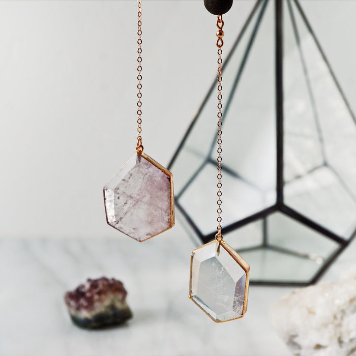 OOAK Rose Gold Crystal Necklaces
