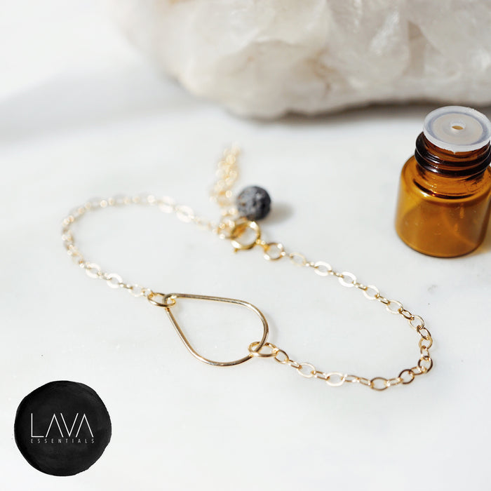 NEW Oil Drop Essential Oil Bracelet [G]+[S] - Lava Essential Oils