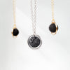 Eternal Moon Dainty Lava Essential Oil Necklace [G]+[S] - Lava Essential Oils