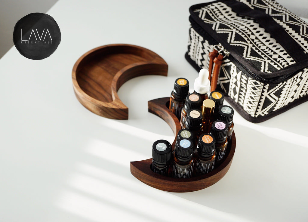 SECONDS SALE • Boho Carrying Case for Essential Oils 30+ bottles 5ml-15ml - Lava Essential Oils