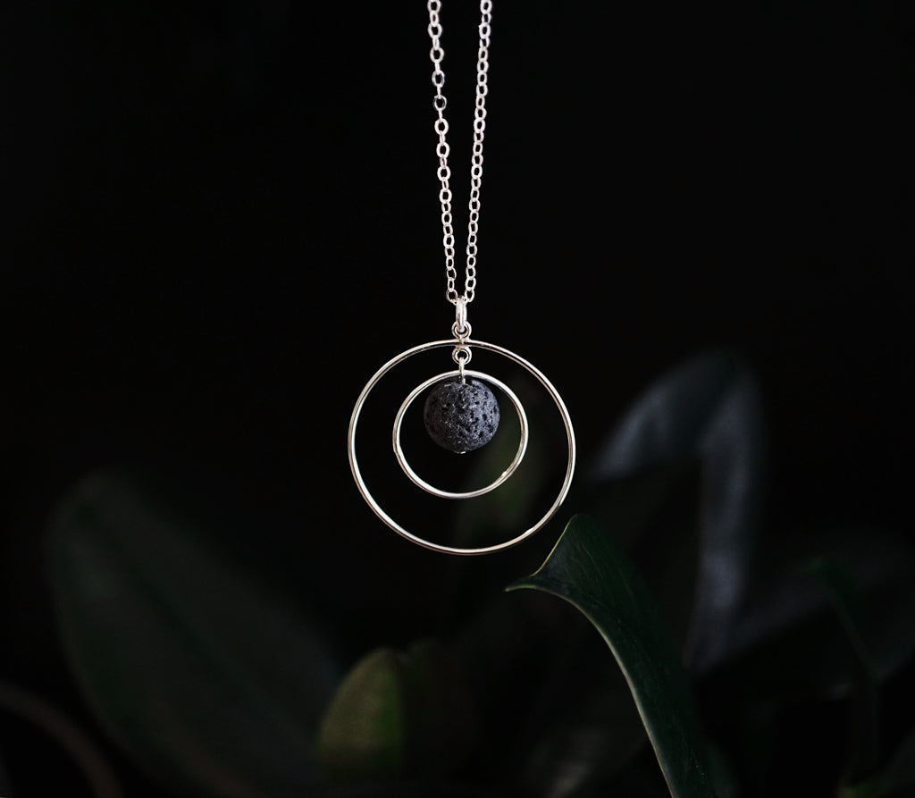 The Orbit - Aromatherapy Lava Necklace [G]+[S]