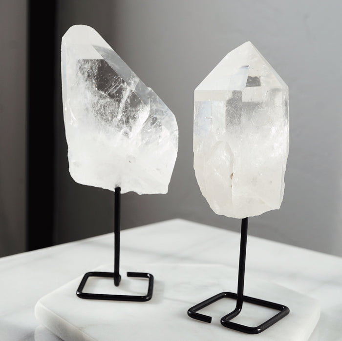 Quartz Crystal Stone on Stand - Lava Essential Oils
