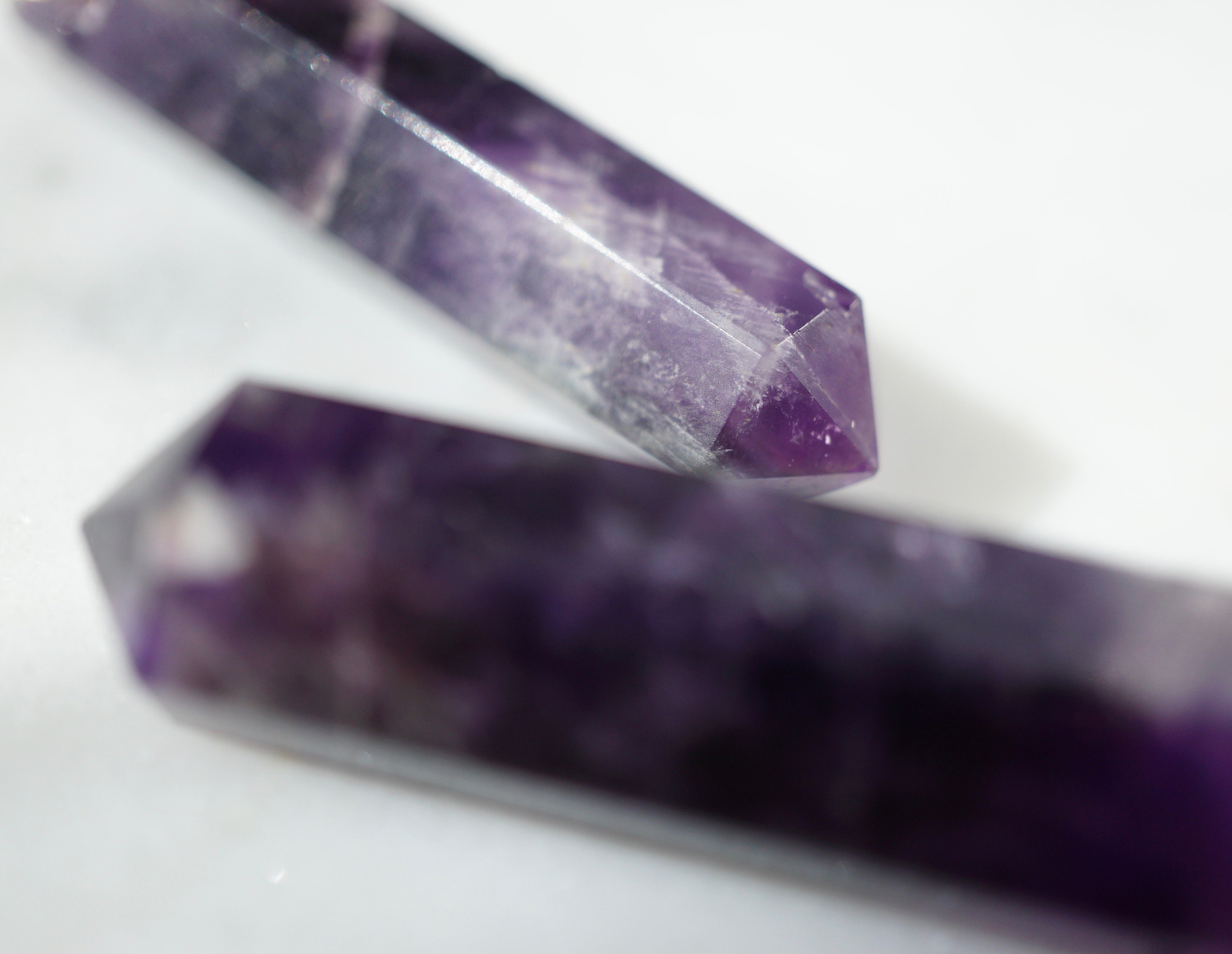 Amethyst Infinity Crystal Aroma Necklace [G]+[S] - Lava Essential Oils