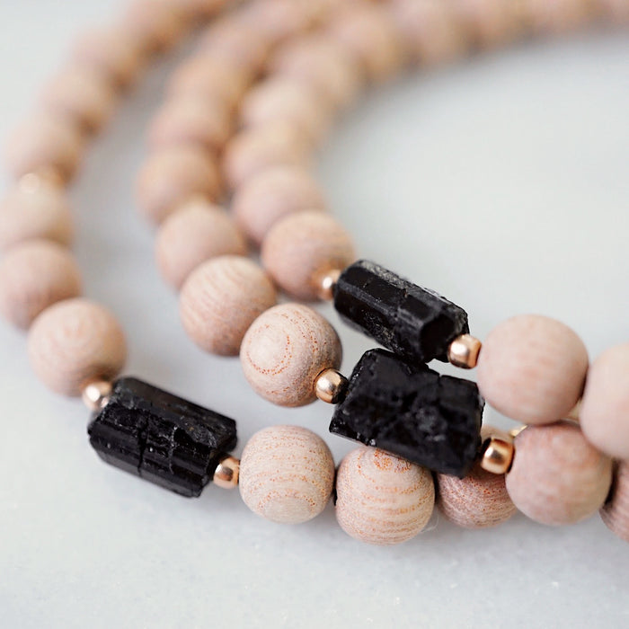 EMF Collection ☼ Black Tourmaline & Rosewood Bracelet [G]+[RG] - Lava Essential Oils