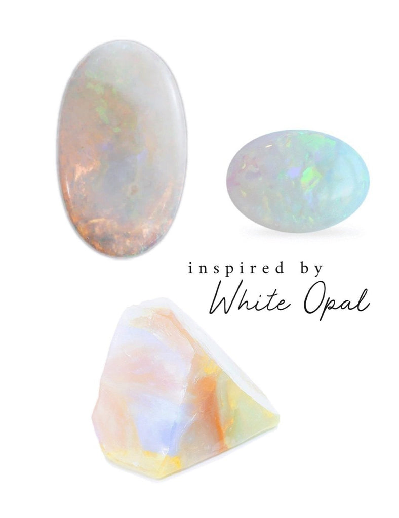One-of-a-kind Crystal Point Essential Oil Holder • inspired by White Opal (007) - Lava Essential Oils