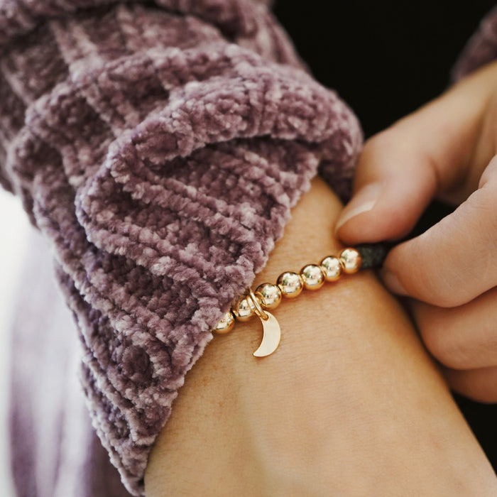 LUX Dainty 14K Gold-fill Lava Bracelet ▾ Limited Edition (025)