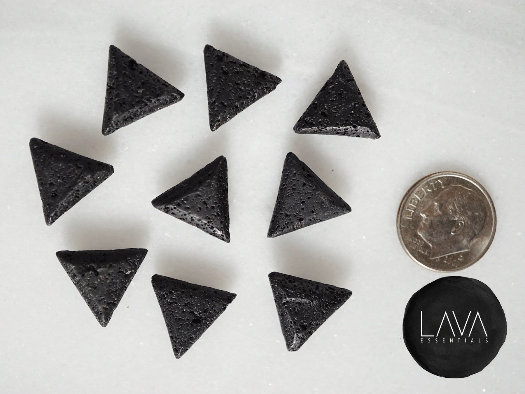 NEW Minimalist Lava Triangle Essential Oil Diffuser Necklace [G]+[S]+[RG] - Lava Essential Oils