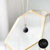 Dainty Lava Pendant Minimalist Single Lava Bead Essential Oil Diffuser Necklace [G]+[S] - Lava Essential Oils