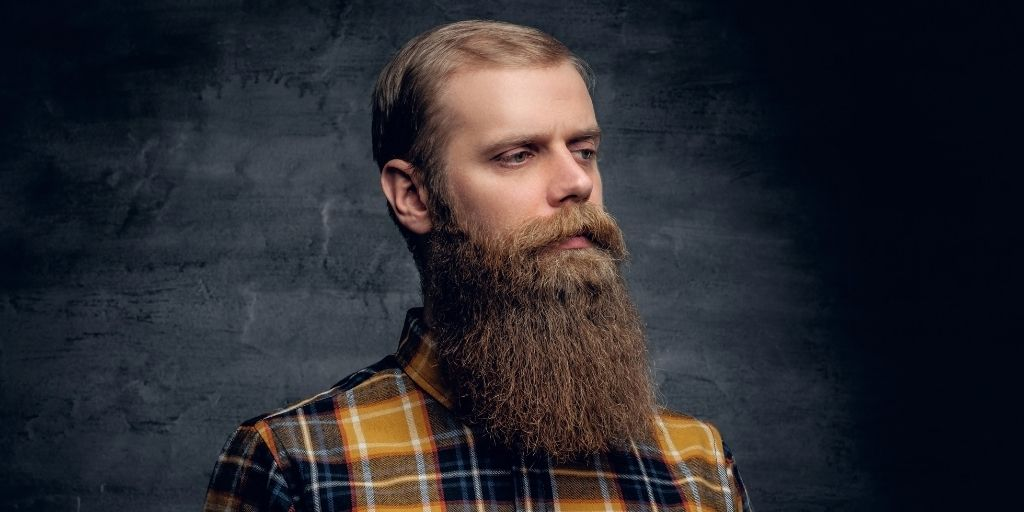 Man with Thick, Healthy, Full Beard