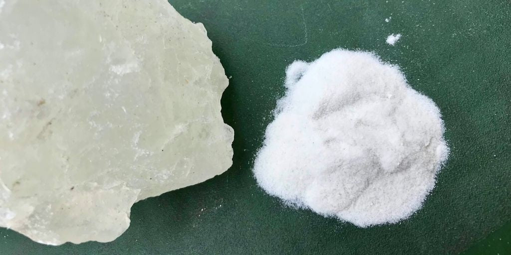 Alum Block in Crystal and Powdered Form