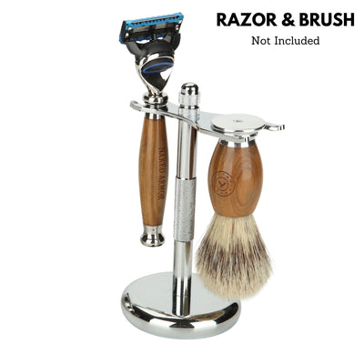 Safety Razor & Brush Stand
