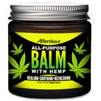 Aftershave All-Purpose Organic Balm With Hemp