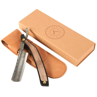 Damascus Straight Razor Kit | Men's Gift Box