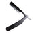 Lancelot Black Stainless Steel Straight Razor