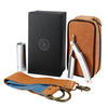 Merlin Travel Kit V2 - Stainless Steel Straight Razor With Collapsable Brush + Strop