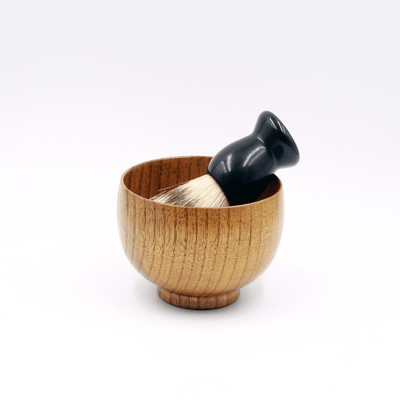Wood Shaving Brush Soap Bowl