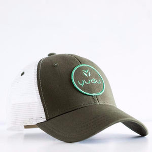 Women's Olive and White Snapback Trucker Hat