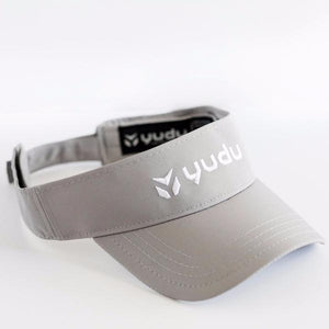 Athletic Grey Visor with White Embroidery