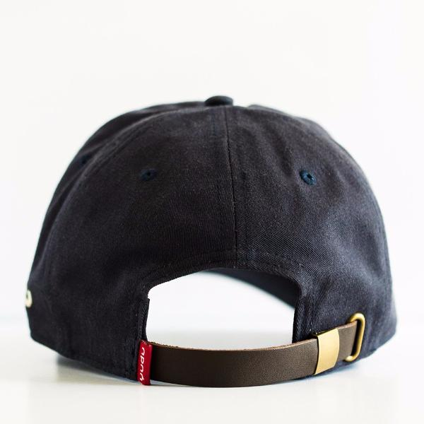 Navy Blue Cotton Twill Dad Hat with Leather Strap – yudugear.com 6d69786fab7