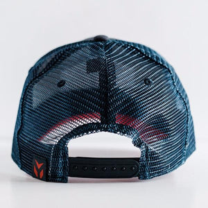 Eagle Collection - Navy Blue and Red Snapback Trucker