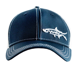 LiveWell Collection - Navy Blue/White Ultra-Fit Snapback Fishing Hat
