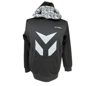 Black/Silver Tactical Fleece Hoodie