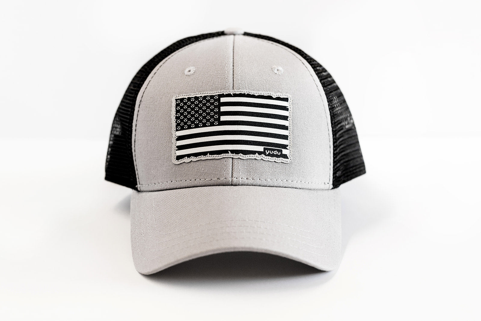 Freedom Collection - Steel/Black Snapback Trucker USA Flag Hat