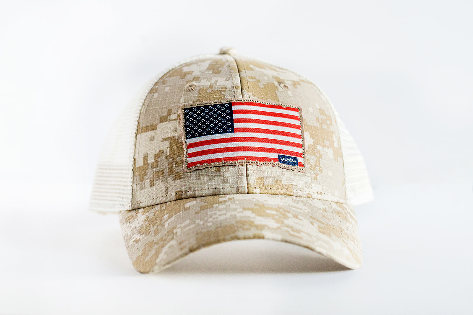 Freedom Collection - Desert Digital Camo Snapback Trucker USA Flag Hat