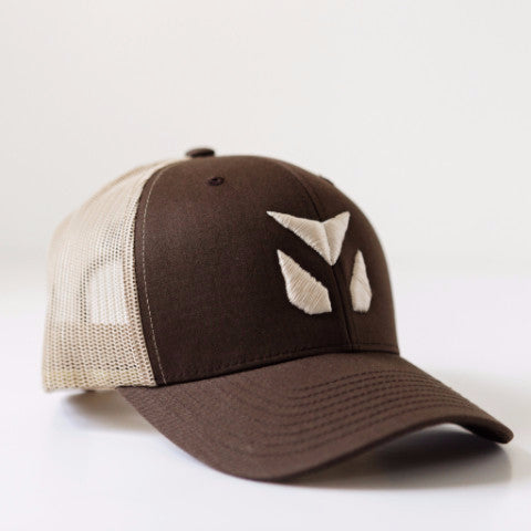 Brown/Khaki YUDU Retro Trucker Hat